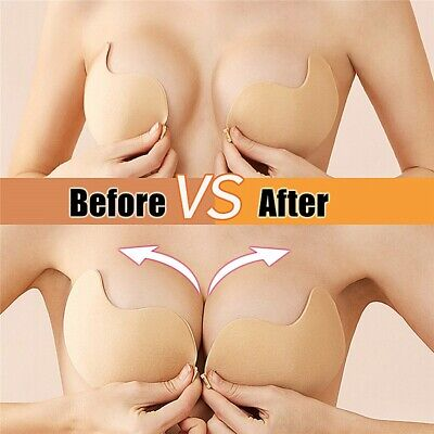 £4.99 • Buy 2/4PCof Silicone Sticky Invisible Bra Tape Invisible Breast Lifting Nipple Cover