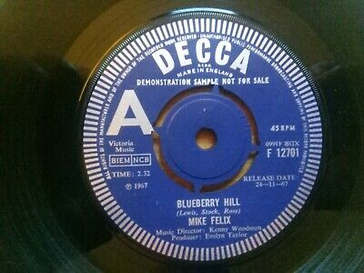 £4.99 • Buy Mike Felix - Rare Decca Demo - Blueberry Hill - F 12701 - Year 1967 - Blues