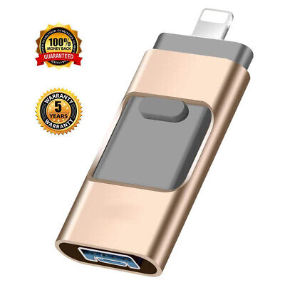 £11.99 • Buy 512-8GB 3in1 USB Memory Stick Flash Drive OTG U Disk For IPhone IPad Android PC
