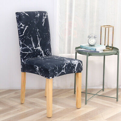 £0.01 • Buy Dining Chair Seat Covers Home Protective Stretch Covers UK Spandex Slip Banquet