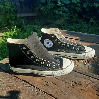 $79.99 • Buy Vintage Converse Chuck Taylor Shoes Hi Top Black Made In USA Mens 6 / Womens 8