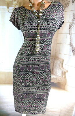 £4.50 • Buy 7. Women's New Look Stretchy Aztec Print Midi Summer Dress Size 14 Worn Once