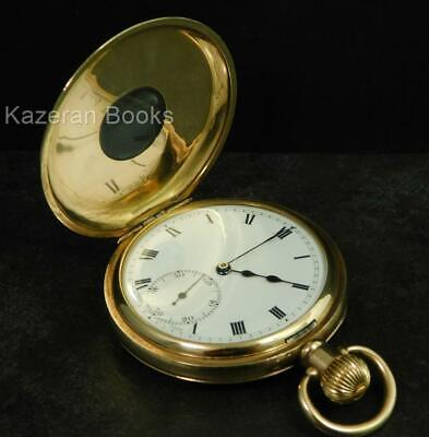 £224.99 • Buy Antique SELEZI Gold Plated Half Hunter Fob Pocket Watch By DF&C C1920
