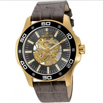 £6.11 • Buy Invicta Specialty 17261 Men's Mechanical Gold Tone Analog Taupe Leather Watch