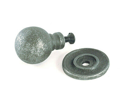 £3.95 • Buy Antique Cast Iron Pewter Ball Cabinet Drawer Cupboard Kitchen Knobs Pull Handles