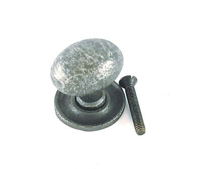 £3.95 • Buy Antique Vintage Pewter Oval Kitchen Cast Iron Cabinet Cupboard Drawer Knobs Pull