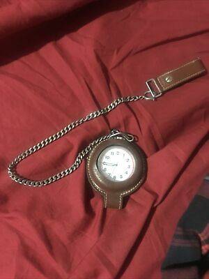 $21 • Buy Swiss Army Pocket Watch, Leather Pouch Working Battery With Pouch