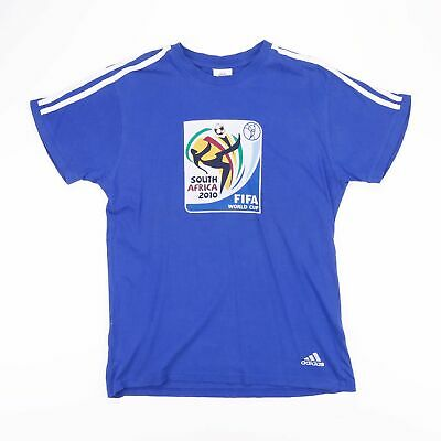 £10.99 • Buy ADIDAS SOUTH AFRICA FIFA WORLD CUP Blue Football T-Shirt Size Men's Small