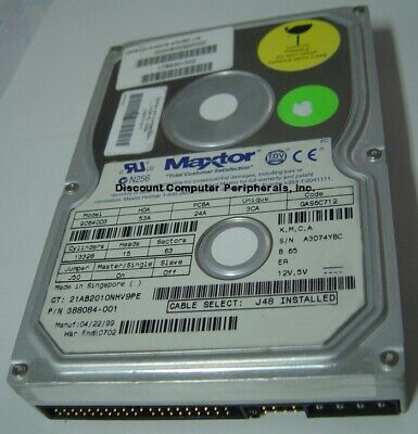 £12.92 • Buy 90640D3 Maxtor 6.4GB 3.5IN IDE 40 Pin Hard Drive Tested Good Our Drives Work
