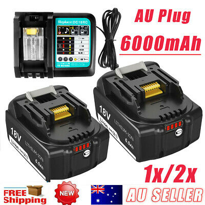 AU79.98 • Buy 18V 6.0AH LXT Battery Or Charger For Makita BL1830 BL1840 BL1850 Cordless Tools