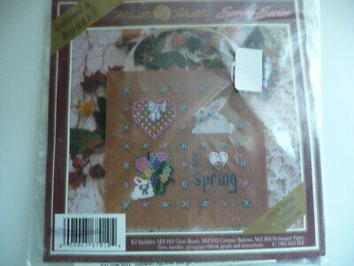 $15.95 • Buy I Love Spring Buttoned & Beaded Cross Stitch Kit - Mill Hill Spring Series