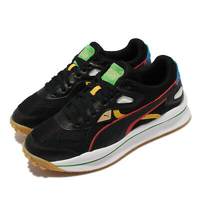 AU154 • Buy Puma Street Rider WH Black Red White Men Casual Lifestyle Shoes 375820-02