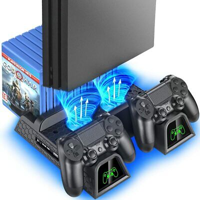 AU61.70 • Buy Powerful Premium PS4 Vertical Stand Cooling Fan Charging Dock Station Slim Pro