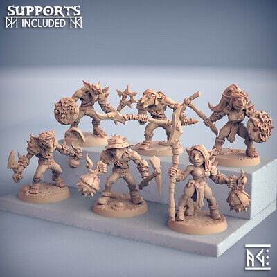 AU54.63 • Buy GOBLIN Kobold Lot Of 6 Warrior SOLDIERS Clan Dungeons And DRAGONS, RPG, Fantasy