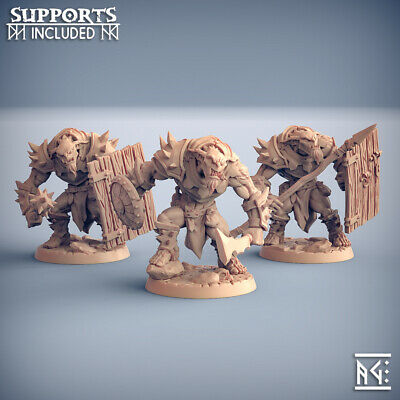 AU40.97 • Buy HOBGOBLIN Lot Of 3 Warrior SOLDIERS Elite Clan Dungeons And DRAGONS, RPG