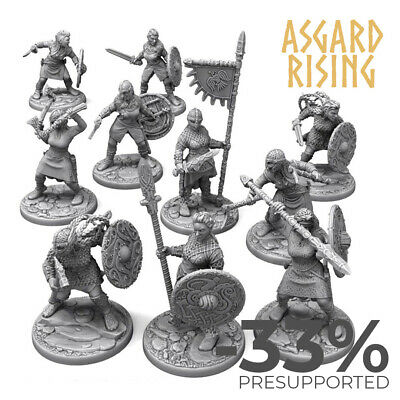 AU68.30 • Buy SHIELD MAIDENS Warband CELTIC Nordic VIKINGS Lot Of 10 Dungeons And Dragons, RP