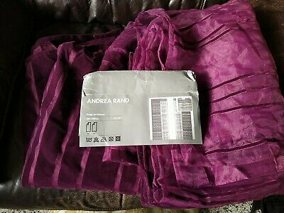 £8 • Buy IKEA Andrea Rand Sheer Viscose Voile And Velvet Flock Curtains BNWOB