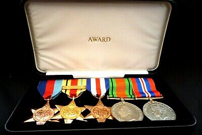 £25 • Buy Medals Row Of 5 W.w.2 Medals With Ribbons In Box--replica