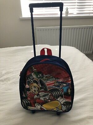 £4.99 • Buy Mickey Mouse Suitcase Roller Trolley Great Condition Used Once