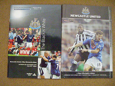 £0.95 • Buy Newcastle United V West Bromwich Albion 2 Programmes
