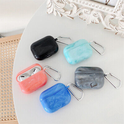$ CDN13.81 • Buy Luxury Marble Shockproof PC Case Cover Wireless Earbuds For Airpods 1/2/Pro