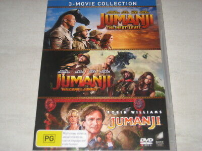 AU22.99 • Buy JUMANJI 3 Movie Collection Next Level/welcome To The Jungle DVD R4 NEW/SEALED