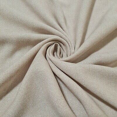 £0.99 • Buy Cotton Viscose Blend Fabric Beige And White Melange Colour 55  Sold By Metre