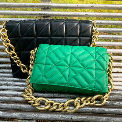 $ CDN24.64 • Buy Women's Shoulder Bags Thick Chain Quilted Shoulder Purses And Handbag
