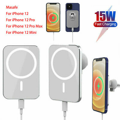 AU23.99 • Buy Magnetic Car Mount Wireless Charger With MagSafe For IPhone 12 Mini 12 Pro Max