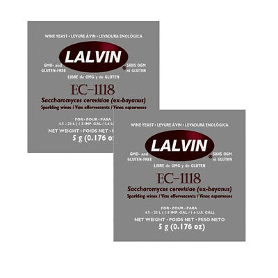 £2.99 • Buy Lalvin EC-1118 Champagne Yeast X1 X2 X4 BUY MORE AND SAVE - FROM £1.60 A PACK