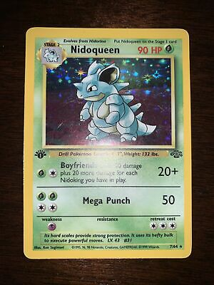 $44.99 • Buy 1st Edition Nidoqueen 7/64 Jungle Pokemon Card Holo First Edition 1999 WOTC