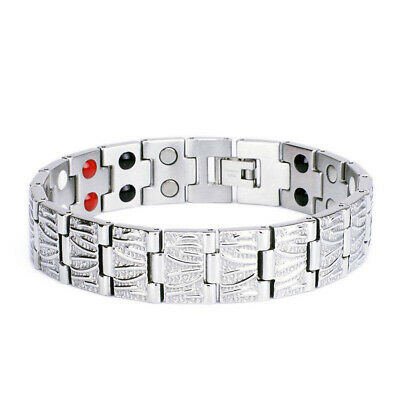 £6.99 • Buy Stunning Women Men Magnetic Health Double Row Therapy Pain Relief Bracelet Gift