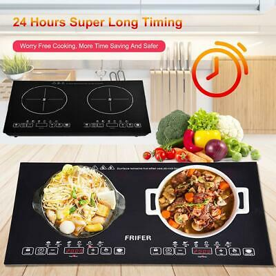 £62.90 • Buy Portable Induction Cooker Infrared Double Stove Burner Stove Hot Plate 2000W