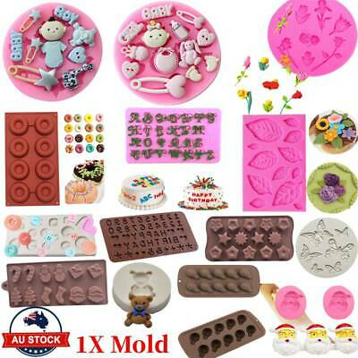AU10.99 • Buy 30 Styles Silicone Mould Cake Ice Tray Jelly Candy Cookie Chocolate Baking Mold~