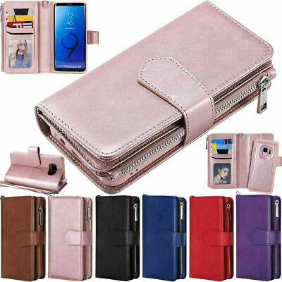 AU21.96 • Buy Zipper Leather Wallet Case For Samsung S20 S10 S8 S9 Plus Note 20 10 9 Removable