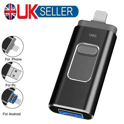 £12.99 • Buy Black USB 3 Flash Drive Thumb Photo Memory Stick For IPhone IPad Android Tablet