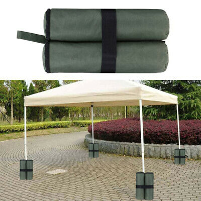 AU23.74 • Buy 4 Pack Sand Bags Canopy Tent Gazebo Weights Durable Material Quick & Easy Lawn