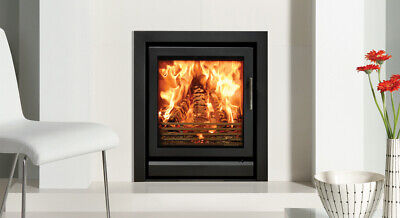 £1499 • Buy Stovax INSERT FIRE ,Riva 55 WOODBURNING , Cassette 8kw ,BLACK WITH FRAME, Stove