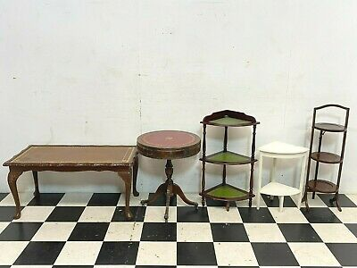 £60 • Buy 5x Antique Vintage Side / Coffee Tables Plus Corner And Cake Stands - Delivery