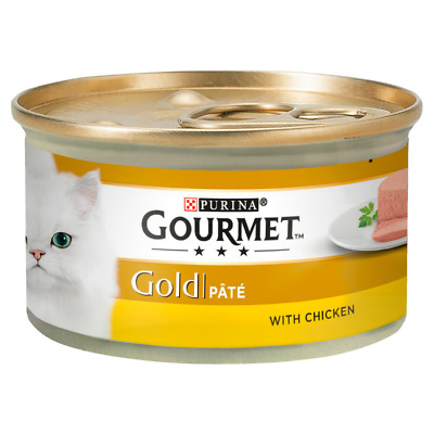£10.75 • Buy Gourmet Gold Chicken Pate Cat Food 12x85g FREE NEXT DAY DELIVERY