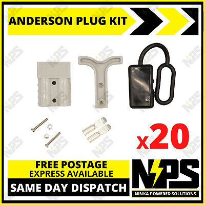AU69.95 • Buy 20x Anderson Style Plug Kit Dust Cover T Handle 6 AWG 50 AMP 12-24v DC 4x4 Solar