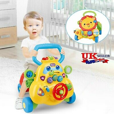 £36.68 • Buy 3-in-1 Baby Walker Kids Toddler Learning First Step Push Ride-On Car W/ Music