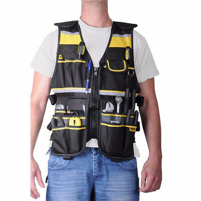 £36.03 • Buy Multifunctional Kit Canvas Thicken Vest Electrician Labor Insurance Tools