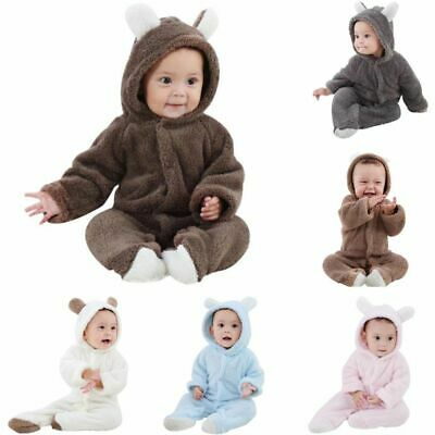 £8.59 • Buy Newborn Baby Boy Girl Kids Cute Hooded Romper Jumpsuit Bodysuit Clothes Outfits