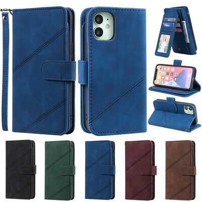 AU19.99 • Buy Leather Case Flip Wallet Card Holder For IPhone 7 Plus XS MAX XR 11 12 Pro Cover