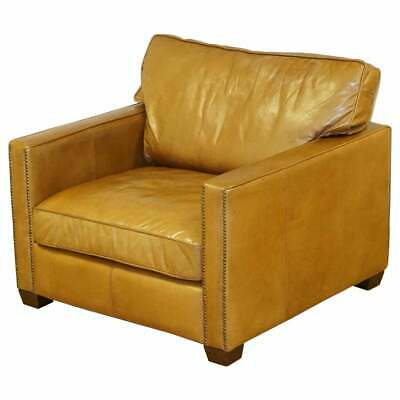 £750 • Buy Timothy Oulton Halo Viscount William Large Armchair In Brown Leather