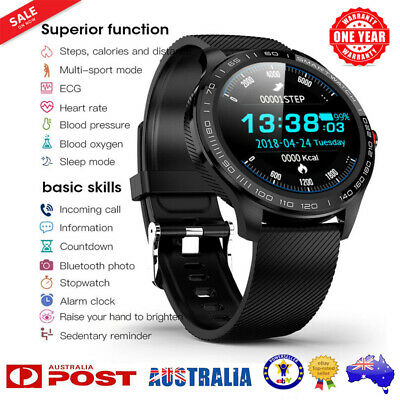 AU49.89 • Buy L9 Smart Watch IP68 PPG ECG Blood Oxygen Pressure Heart Rate For Android IPhone