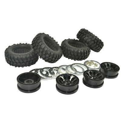 £22.56 • Buy 4Pcs 1.9 Inch 96mm 1:10 Rc Rock Crawler Rubber Tires Tyre For SCX10 RC4WD D90