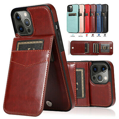 AU14.59 • Buy For IPhone 11 12 Pro Max XS X XR 8 7+ Slim Leather Wallet Card Holder Case Cover