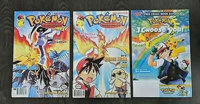 $19.99 • Buy Pokemon Adventures Part 2 #3 And Part 3 #6 + Free Comic Book Day  I Choose You